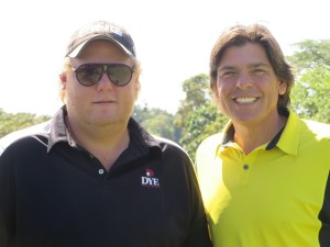 With Alejandro Lahrssen who hits it like John Daly back in the day!