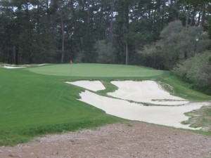The par-3 17th green.