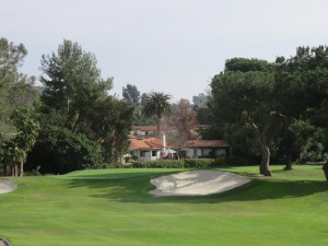 The picturesque first green at Rancho Bernard Inn. Will you par or birdie the hole?