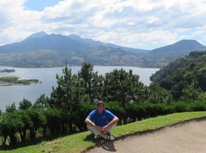 At the 10th green overlooking Lake Amatitlán, a beautiful, peaceful and spiritual place!