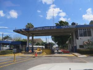 Leaving Mexico at Hidalgo, crossing the Sachiato River and arriving in Tecun Uman, Guatemala.