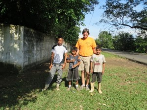 With kids in Guatemala... from kicking soccer balls to swinging clubs and hitting golf balls!