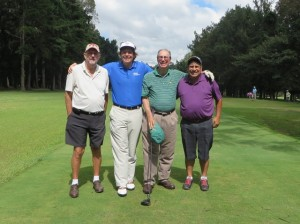 With Carl Bloomfield (L), Pepe Rolz, and Nery Colindres (R), our starting foursome!