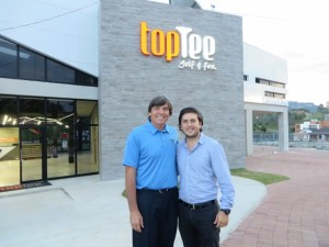 With General Manager Marco Solares out front of Top Tee Cayala.