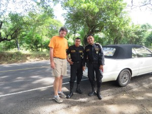 With my new friends on the federal police force in Guatemala.