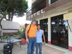 With Omar leaving the Hotel El Cruce in the morning.