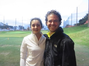 Instructor Nicholas Zappin with competitive junior golfer 15-year old Pilar Echeverria.
