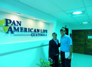With Lorena Ortiz at Pan American Life Guatemala.