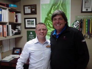 With Cole Handley in his office at Poppy Hills.