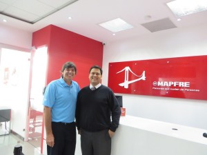 With Carlos Raul Segura at Seguros Mapfre.