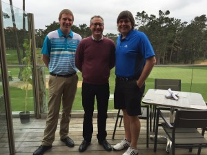 With Kevin Merfeld (L) and Richard J. Cerame (R) on the deck at Poppy Hills.
