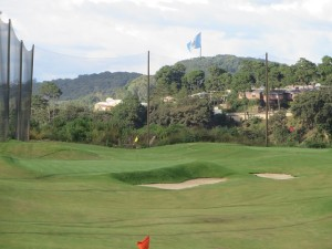 Top Tee golf, aim point is the gigantic Guatemala flag in the distance!