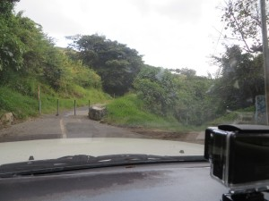End of the road adjacent to Lake Amatitlan trying to find the Holy Trinity Monastery.
