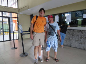 With my tour and trusted friend Isai at the MExico-Guatemala border.