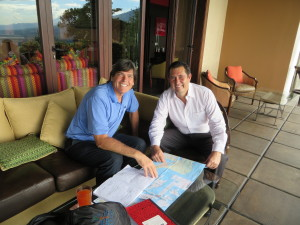 With Margarito Barreras, who was instrumental in helping me map out the rest of the Journey down through Central America.