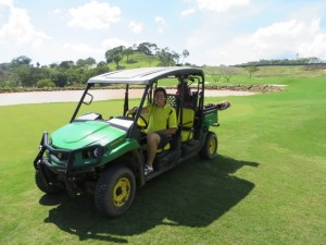I liked playing 'Dirt Golf,' especially the 4x4 golf cart!