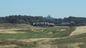 Erin Hills with Holy Hill in the distance.