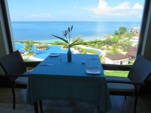 Your table is awaiting you in the Agua Restaurant at the Pristine Bay Resort in Roatan, Honduras!