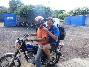 It was a thrilling ride on the back of Virgil's motorcycle through the streets of Managua!