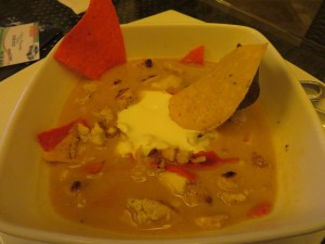 The tortilla soup at the Agua Restaurant is to die for but you don't have to, just order it and they will bring it to you!