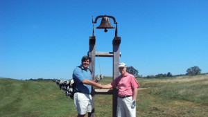 Ringing the bell with my golfing buddy Sir Walter!