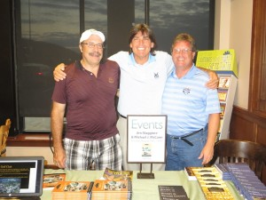 With authors Jim Maggiore (L) and Mike McCann (R) at their Barnes & Noble book signing on Tuesday night.