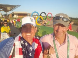 With Gil Hanse at the 2016 Golf Olympics, who designed the Olympic Golf Course with input from World Golf Hall of Famer Amy Alcott.