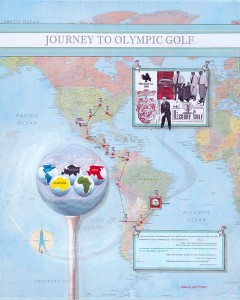 Suzanne Yost McCourt's artwork 'Journey to Olympic Golf.'
