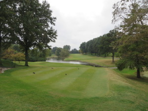 The beautiful 15th at Glen Echo CC was pivotal in George Lyons' Olympic Golf triumph.