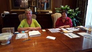 Wouldn't you love to walk into the President's Cup Library at the TPC Sawgrass Clubhouse and register with Kelli (L) and Kathy (R) as a player for the Web.com Tour Championship?