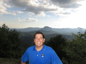 I made it to the top of Rock Mountain! What a spectacular view of the High Hampton Inn and its surrounding 1400 acres!