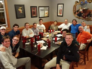 With Golf Coach Ken Dougherty and the Hobart golf team and another special friend or two...