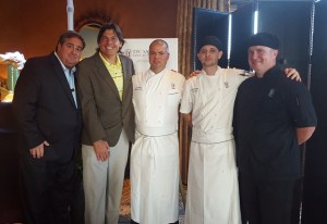 With General manager Bill Hughes and the home culinary team from TPC Sawgrass Executive Chef LJ Coussin, Logan McCurry and Kevin Shafer.