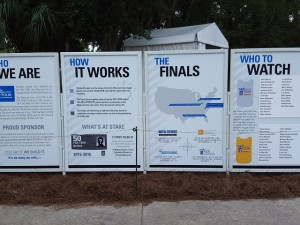 It's complicated even with billboards to help explain how the system works to determine the Finals Top 25.