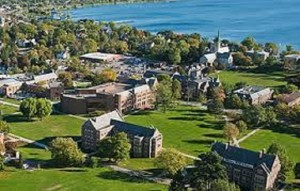 The beautiful and historic Hobart & William Smith Colleges overlooks Seneca Lake, one of Central New York's Finger Lakes.