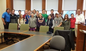 With Dean Capraro's Golf Course Architecture in America: Literature, History, and Theory class. He introduced me by referencing my brother LP's design of Belden Hill as recorded in Jardath Hamrock's Finger Lakes Golf Guide... which of course triggered my golf is like life dissertation much to the delight of these 16 students! LOL