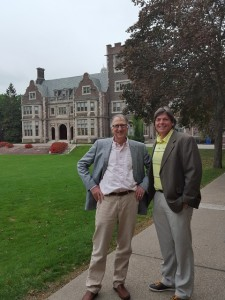A stroll on campus of Hobart and William Smith Colleges with Dean Chip Capraro.