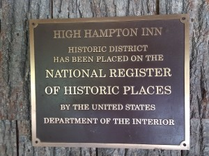 High Hampton Inn is on the National Register of Historic Places.