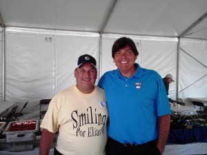 Me and the Greek, both smiling for Elias at the 2012 Dick's Sporting Goods Open in Endicott, NY.
