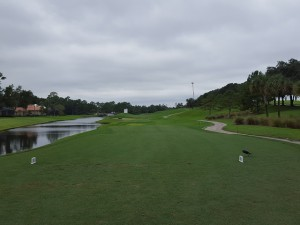 The 11th hole was wide open for play after the Hicks delay on No. 11.