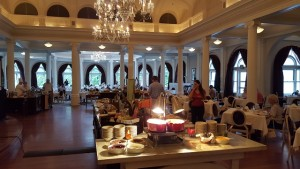 Amazing breakfast buffet in the main dining room.