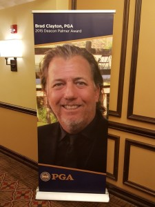 Much to his chagrin, Brad Clayton was larger than life around the halls of the PGA National Resort & Spa, and an inspiring presence!