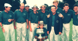 Captain Gary Player with Fulty on the far right.