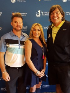 With professional golfer Brian Gay and his wife Kimberley.