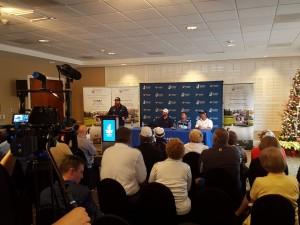 Chad Pfeifer, AZ Pierzynski, Brian Gay & Johnny Damon participated in the media interviews.