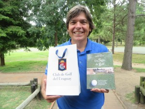 The ultimate and intimate welcoming gift- a book on the history of the Club de Golf del Uruguay, Thanks Raul Perez!