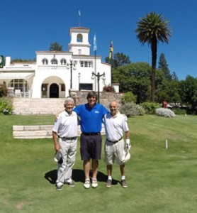 My hosts at Córdoba Golf Club- Gustavo Oliva Funes on the right and the great amateur golfer Roberto Monguzzi on the left. Small world, many stories playing golf with these two guys for three days!