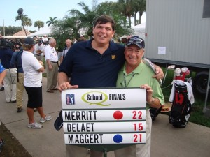 With my buddy Frosty documenting Troy Merritt's win at the 2009 Q-School. We didn't compete but we did have the opportunity to play the Jack Nicklaus designed Lakes Course the next morning!