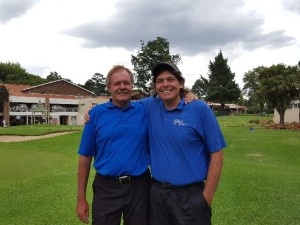 With Bobby Lincoln playing golf at Killarney in Johannesburg, South Africa in mid January.