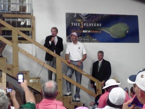 A Players tradition with the champion Matt Kuchar coming into the Barn to thank the volunteers!